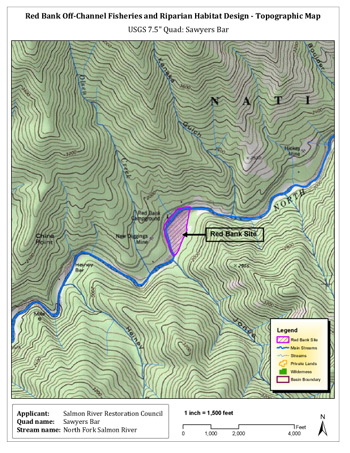 Nordheimer Creek Habitat Enhancement Project map. Click to enlarge.