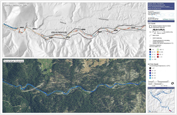 Phase 1 map for Reach 16 on the SF Salmon River. Click to enlarge and see additional maps.